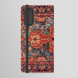 Kashan Poshti Central Persian Rug Print Android Wallet Case