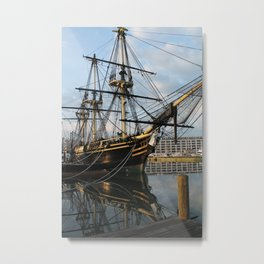 Tall Ship in the Harbor Metal Print