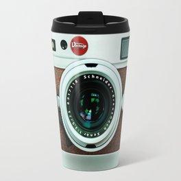 Retro brown leather Vintage camera iPhone 4 5 6 7 8 x, pillow case, mugs and tshirt Travel Mug