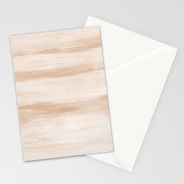 Touching Warm Beige Watercolor Abstract #4 #painting #decor #art #society6 Stationery Cards