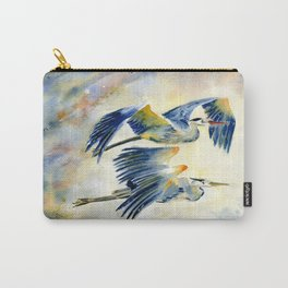 Flying Together - Great Blue Heron Carry-All Pouch