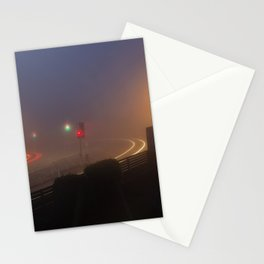 Traffic lights in the fog Stationery Cards