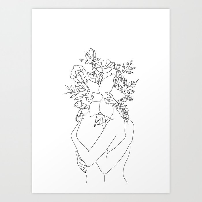 Blossom Hug Art Print