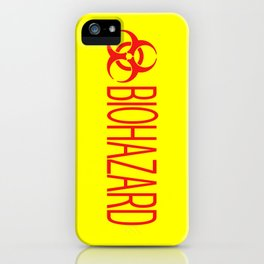 HAZMAT: Biohazard (Red & Yellow) iPhone Case
