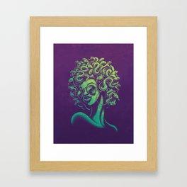 Funky Medusa Framed Art Print