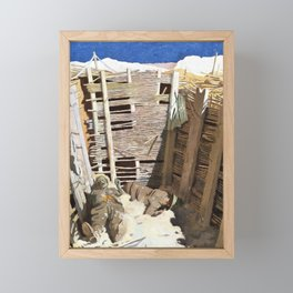 Dead Germans in a Trench - Sir William Orpen Framed Mini Art Print