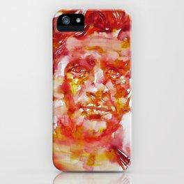 JACK KEROUAC- watercolor portrait iPhone Case