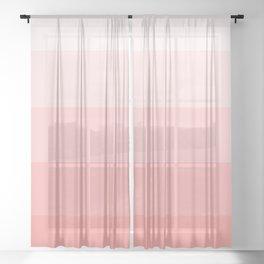 Pastel Paradise Pink Stripe Sheer Curtain