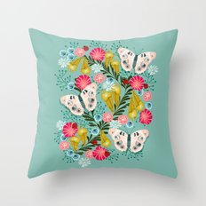 Buckeye Butterly Florals by Andrea Lauren  Throw Pillow