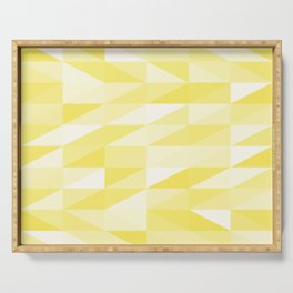 Messy yellow triangles texture Serving Tray