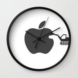 making of Apple Wall Clock