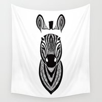 zebra Wall Tapestries featuring Zebra by Art & Be