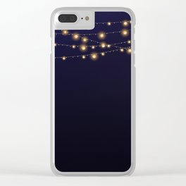 Modern string lights Clear iPhone Case