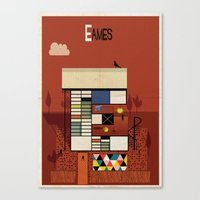 eames Canvas Prints featuring eames by federico babina