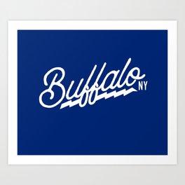 BUFFALO STANDARD Art Print