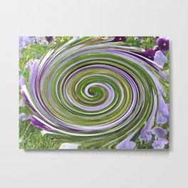 begonia swirl Metal Print