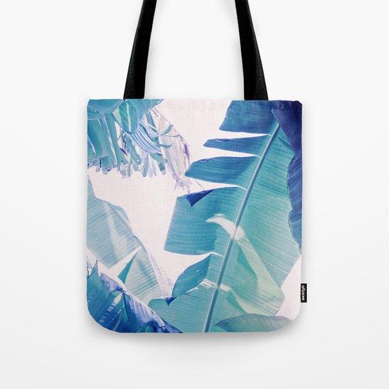 Banana Leaf Blue Tote Bag