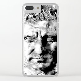 JULIUS CAESAR (BLACK & WHITE VERSION) Clear iPhone Case