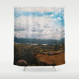 Hills of Windermere, England Shower Curtain