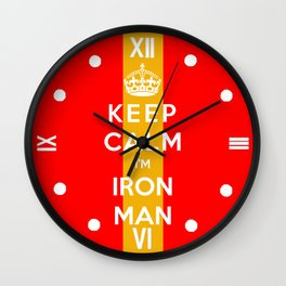 Keep Calm I'm Iron Man Wall Clock