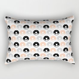 Frosted Donuts - Peach Rectangular Pillow