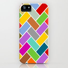 Colourful Tiled Mosaic Pattern iPhone Case