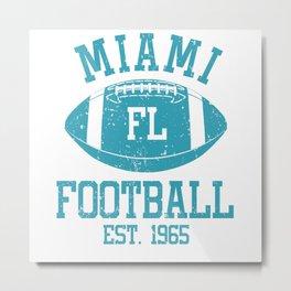Miami Football Fan Gift Present Idea Metal Print