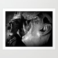 Vintage Clowns Mess with your Head Art Print