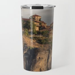 Sunny morning in Meteora Travel Mug