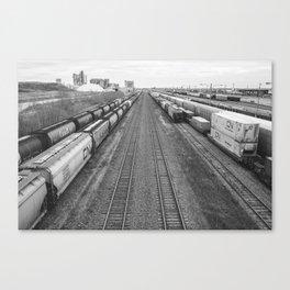 Edmonton Train Yard Canvas Print