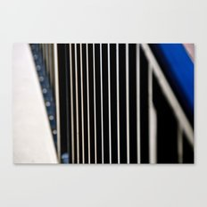 Abstraction in the Metal Fence Canvas Print