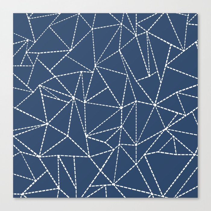 Ab Dotted Lines Navy Canvas Print