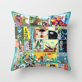 Alphabet City Throw Pillow