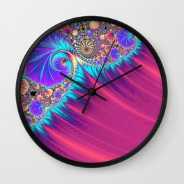 Shattered Ocean Wave Wall Clock