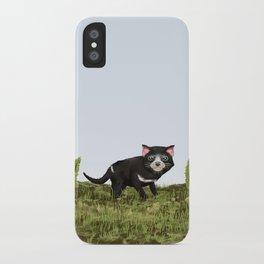 Tasmanian devil (Sarcophilus harrisii) iPhone Case