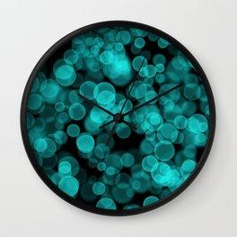 Night Lights Green Wall Clock