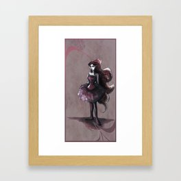 The Lady in Pink Framed Art Print