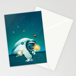 Astronaut Billards Stationery Cards