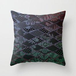 dark lace Throw Pillow