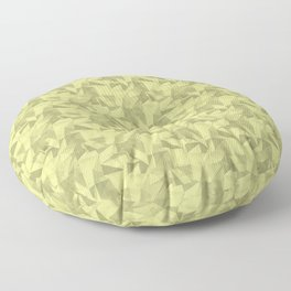 Abstract Geometrical Triangle Patterns 2 Lime Green, Lime Mousse, Bright Cactus Green, Celery Green Floor Pillow