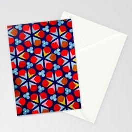 Blue Orange Petal Design Painting Stationery Cards