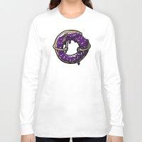 doughnut Long Sleeve T-shirts featuring Hurtz Doughnut by Jonah Makes Artstuff