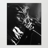 tom waits Canvas Prints featuring Tom Waits by Brad Collins Art & Illustration