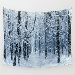 Winter wonderland scenery forest  Wall Tapestry