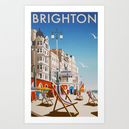 Brighton Travel Poster Art Print