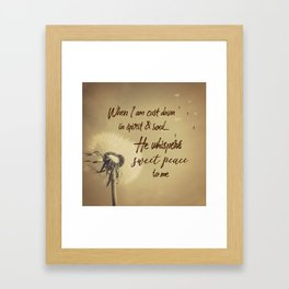 Hymn Typography: Sweet Peace Framed Art Print