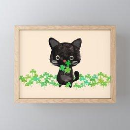 The Luckiest Cat Framed Mini Art Print