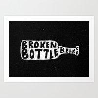 Broken Bottle Beer Co Art Print