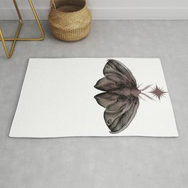 colored moth Rug