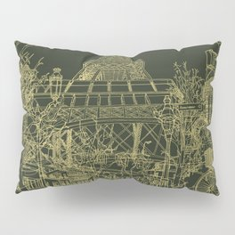 Paris! Olive Pillow Sham